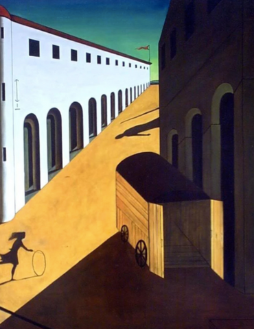 Mystery and melancholy of a street print by Giorgio de Chirico