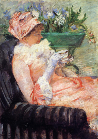 The Cup of Tea Painting by Mary Cassatt
