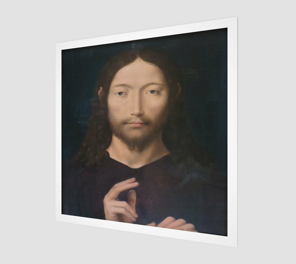 Christ Giving His Blessing by Hans Memling | Canvas Fine Arts