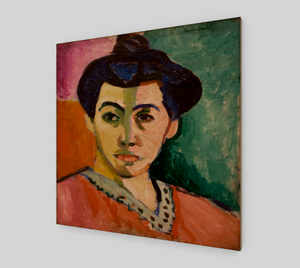 Portrait of Madame Matisse The Green Line by Henri Matisse [Wooden Canvas Prints]