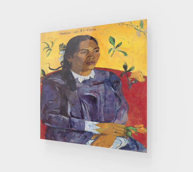 Woman with a Flower by Paul Gauguin | Acrylic Wall Art Decor