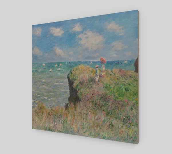 The Cliff Walk at Pourville by Claude Monet