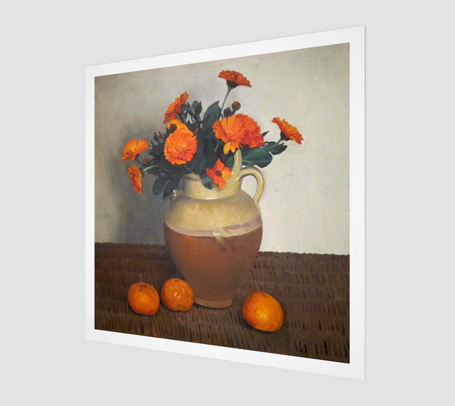 Marigolds and Tangerines by Felix Vallotton | Fine Art Replica
