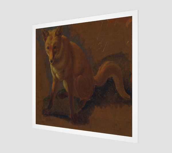 Study of a Fox by Jacques Laurent Agasse [Museum Quality Fine Art Prints]