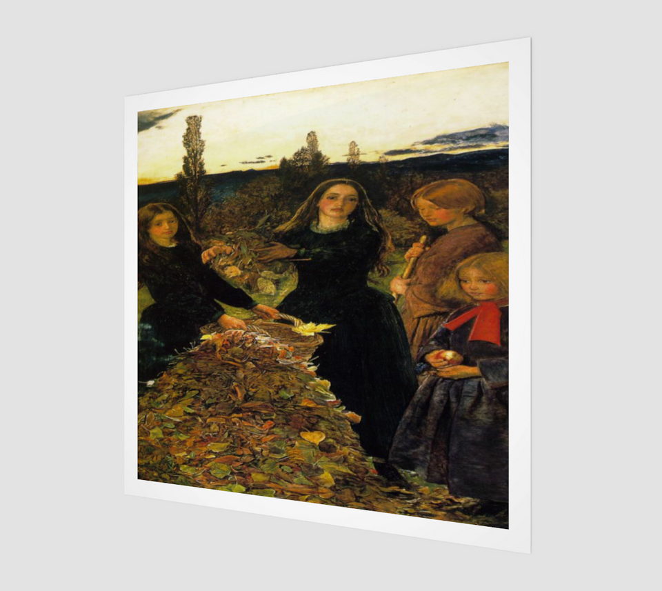 Autumn Leaves by John Everett Millais - Famous Painting