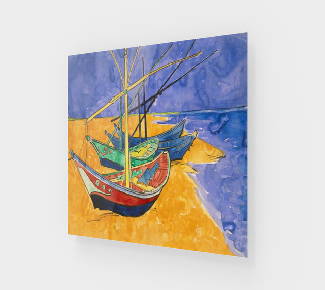 Fishing Boats on the Beach by Vincent Van Gogh | Fine Arts