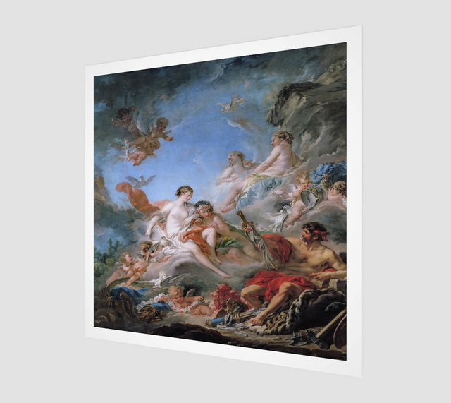 Vulcan Presenting Arms to Venus for Aeneas by François Boucher