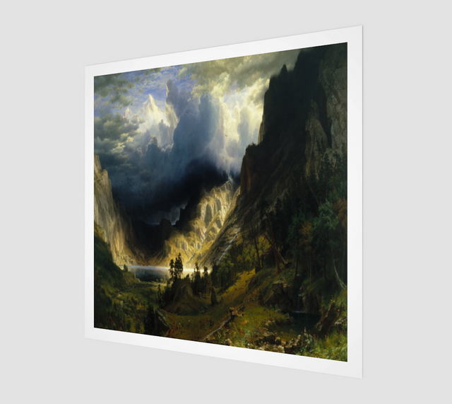 A Storm in the Rocky Mountains, Mt. Rosalie Painting by Albert Bierstadt