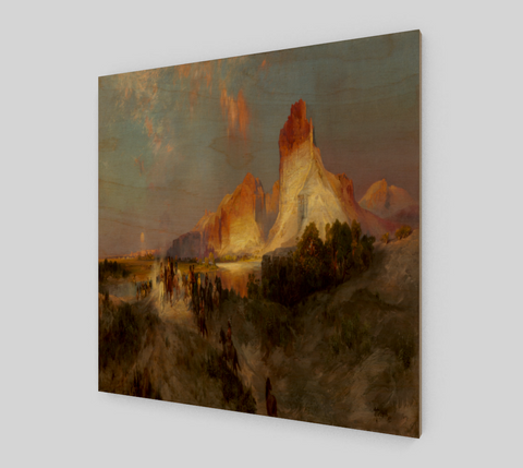 Green River Cliffs, Wyoming by Thomas Moran