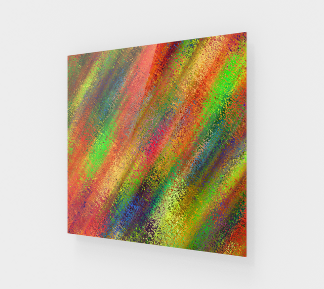 Abstract Colorful Lines Modern Acrylic Wall Art