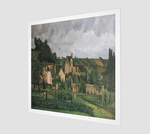 The Hermitage at Pontoise by Camille Pissarro [Museum Quality Fine Art Prints]