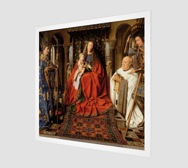 Virgin and Child with Canon van der Paele by Jan van Eyck