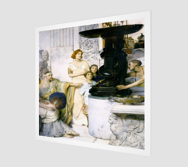 A Sculpture Gallery Painting by Lawrence Alma Tadema