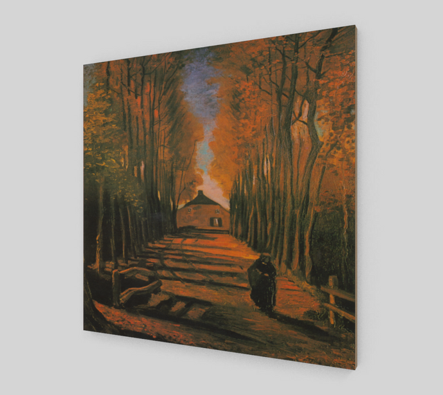 Avenue of Poplars in Autumn by Vincent Van Gogh | Fine Arts - Fine Art