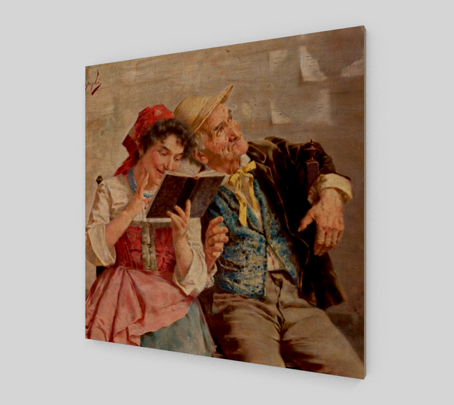 A Couple by Eugenio Zampighi | Canvas Fine Arts - Fine Art