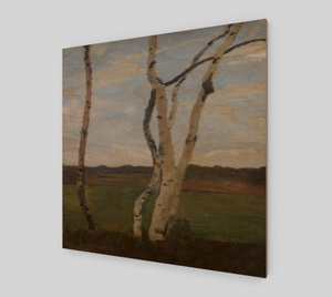 Landscape with Birch trunks By Paula Modersohn Becker [Wooden Canvas Prints]