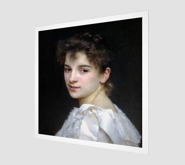 Gabrielle Cot by William-Adolphe Bouguereau [Museum Quality Fine Art Prints]