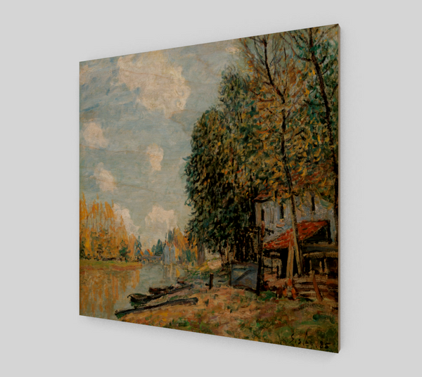 The Banks of the Loing by Alfred Sisley