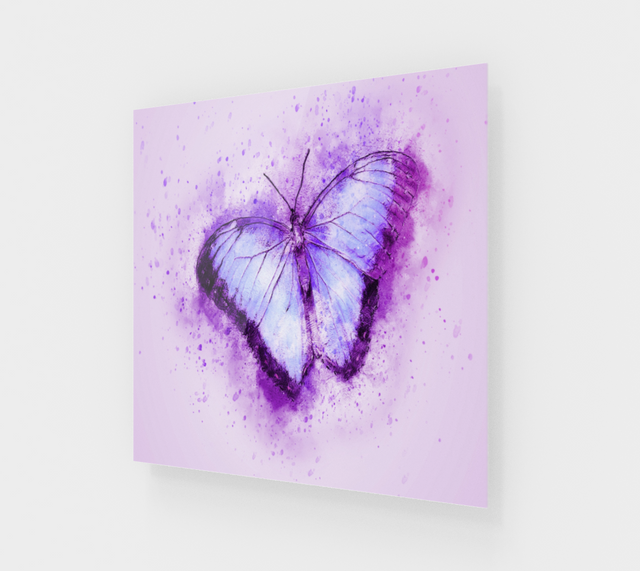 Abstract Purple Butterfly Modern Acrylic Wall Art