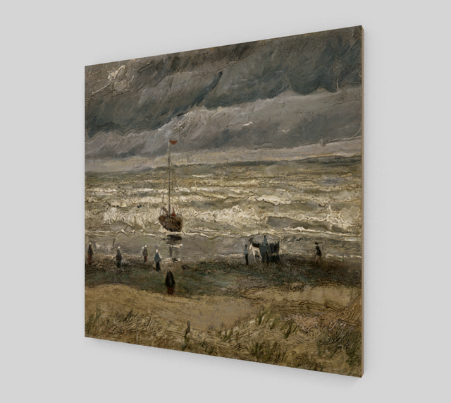 Beach at Scheveningen in Stormy Weather by Vincent Van Gogh