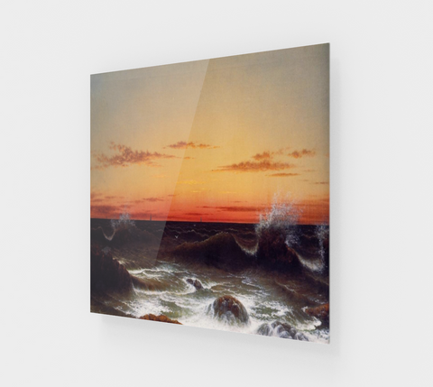 Seascape - Sunset by Martin Johnson Heade [Acrylic Wall Art Decor]