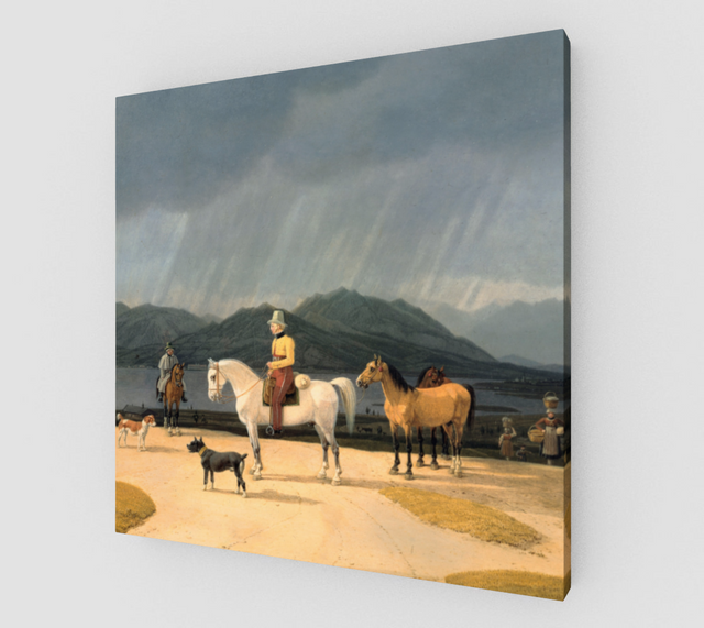 Reiter am Tegernsee by Wilhelm von Kobell - Famous Paintings