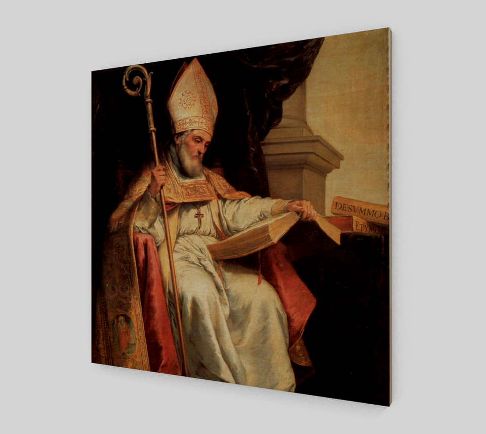 St. Isidore of Sevilla by Bartolome Esteban Murillo | Canvas Fine Arts