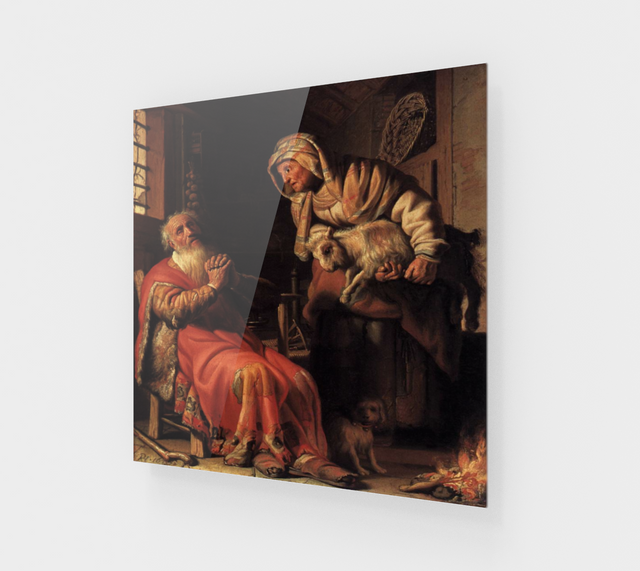 Tobit and Anna with a Kid by Rembrandt van Rijn | Canvas Fine Arts