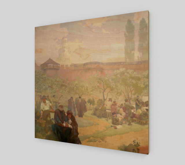The Printing of the Bible by Alphonse Maria Mucha | Canvas Fine Arts
