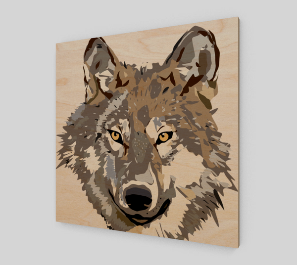 Grey Wolf Painting On Canvas - Art Prints For Sale {New Artwork}