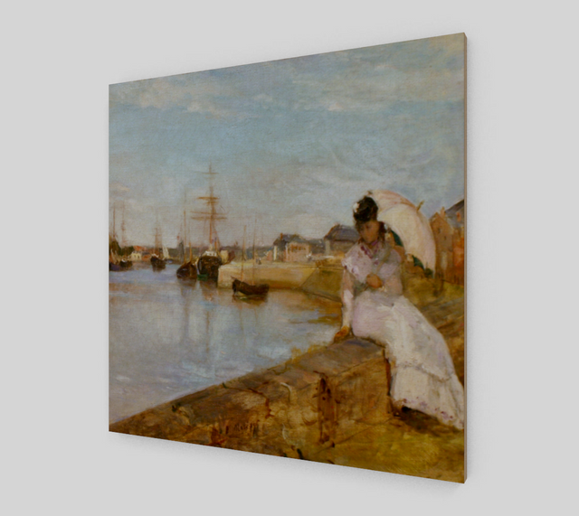 The Harbor at Lorient by Berthe Morisot [Art Reproductions]