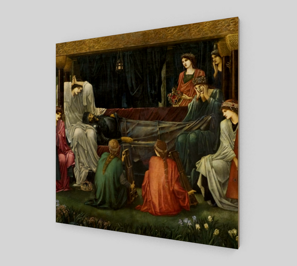 The last sleep of Arthur by Sir Edward Coley Burne-Jones