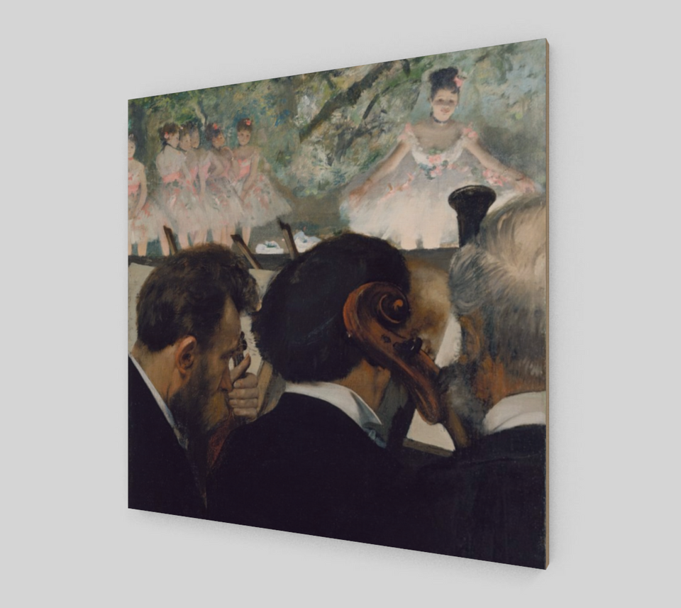 Orchestra Musicians by Edgar Degas | Canvas Fine Arts