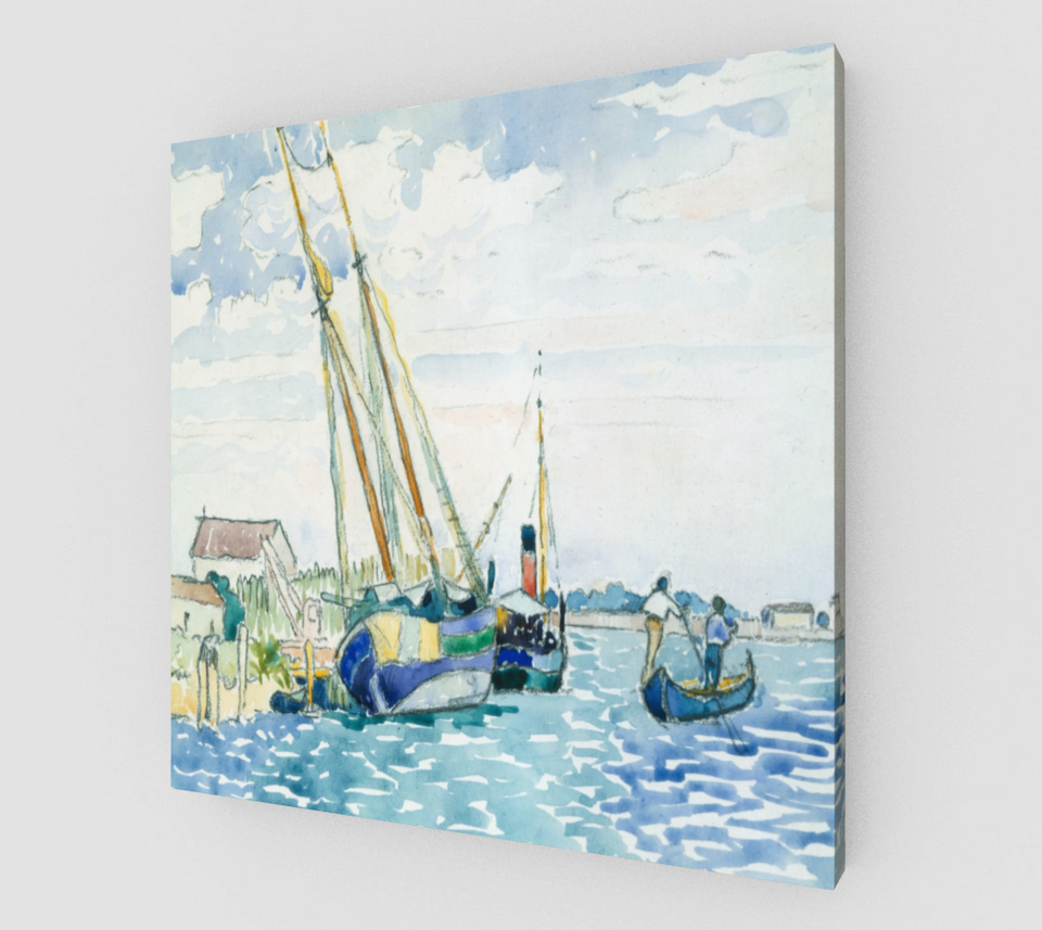 Marine Scene by Henri Edmond Cross [Canvas Fine Art Reproductions]