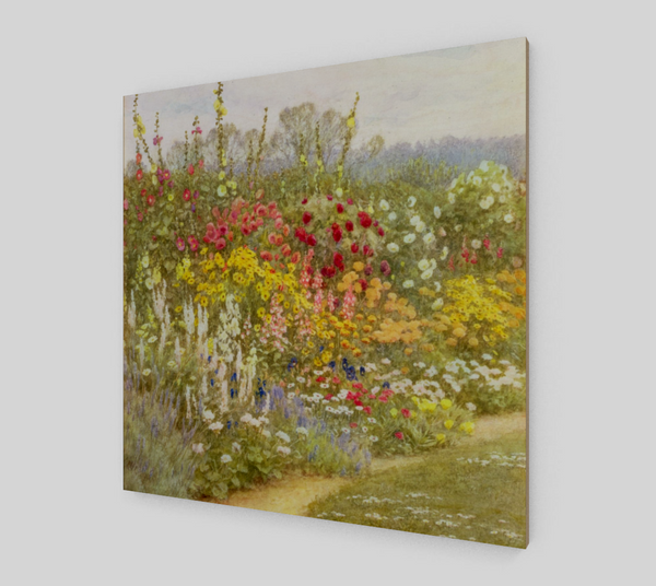 A Herbaceous Border Painting by Helen Allingham