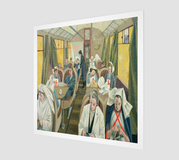 Standing-By on Train 21: A Civilian Evacuation Train Ready to Evacuate Casualties at Short Notice by Evelyn Mary Dunbar