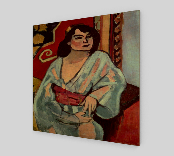 Algerian Woman by Henri Matisse Painting [Wooden Canvas Wall Art] - Fine Art