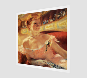Woman with a Pearl Necklace in a Loge by Mary Cassatt [Museum Quality Fine Art Prints]