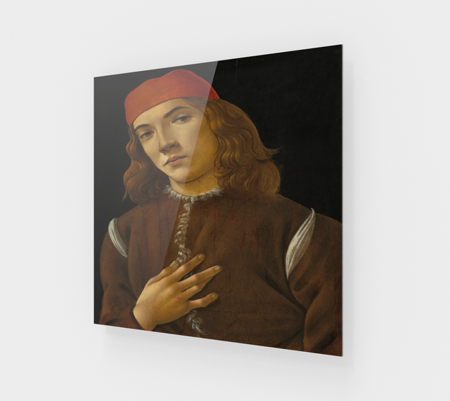Portrait of a Young Man by Sandro Botticelli -  Famous Paintings