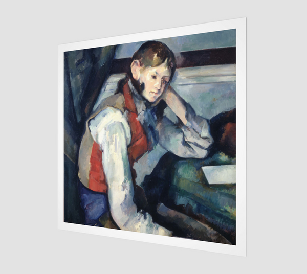 Boy in a Red Vest by Paul Cézanne [Museum Quality Fine Art Prints] - Fine Art