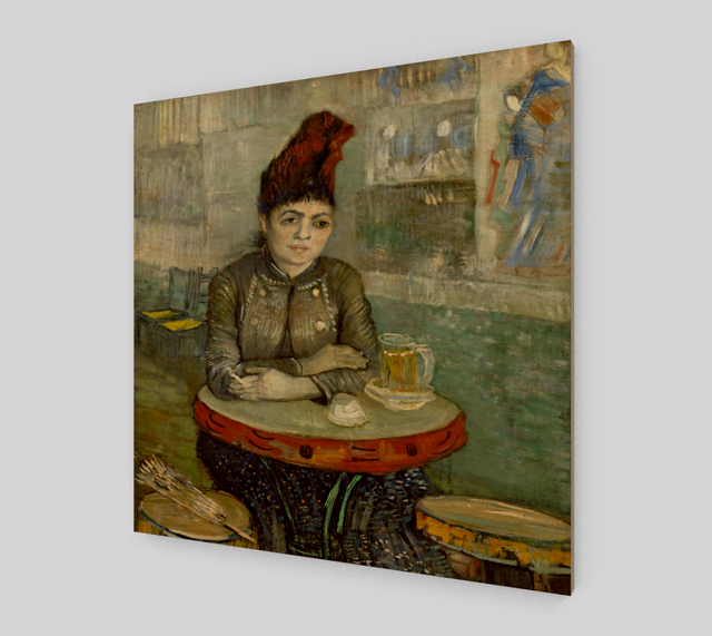 Agostina Segatori Sitting in the Café du Tambourin by Vincent Van Gogh