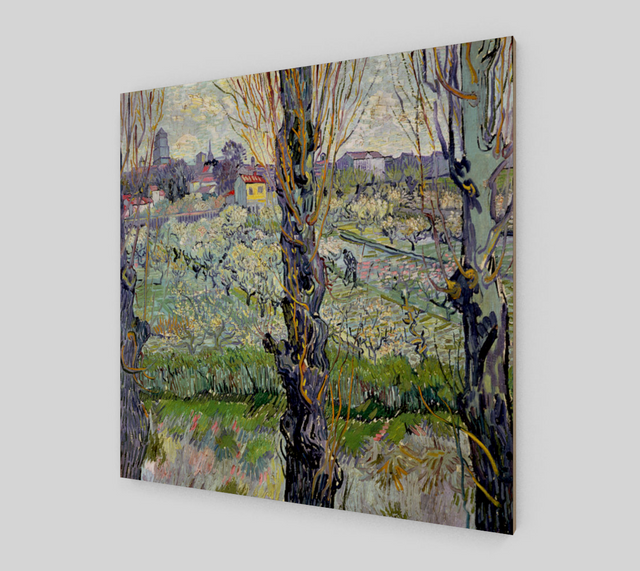 View of Arles - Flowering Orchards by Vincent Van Gogh
