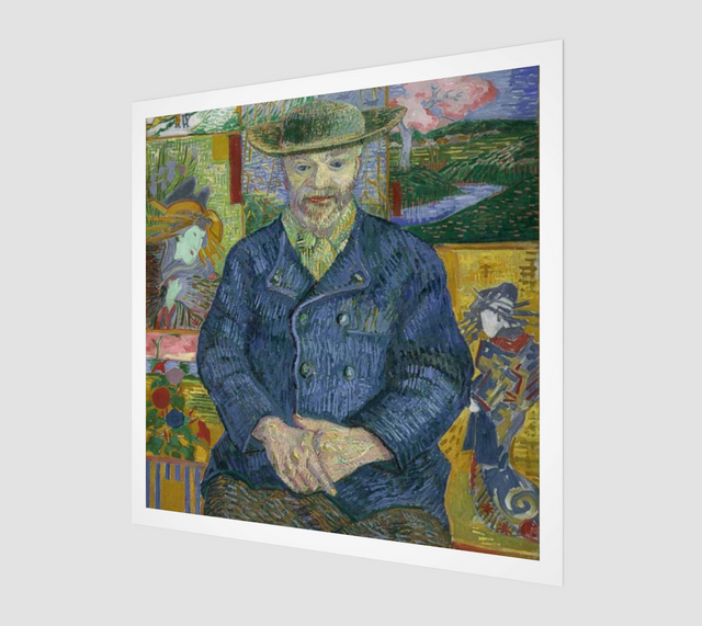 Portrait of Père Tanguy by Vincent Van Gogh