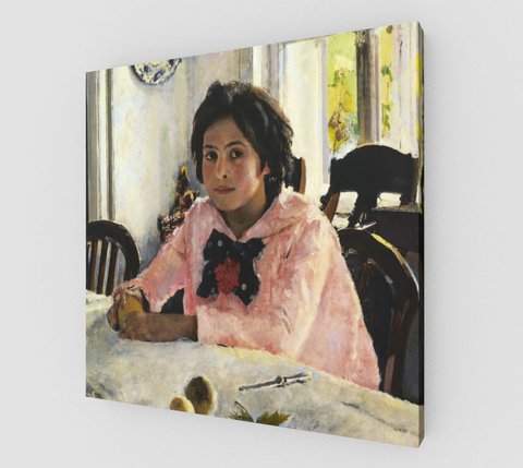 Girl with Peaches Famous Paintings by Valentin Serov [Canvas Fine Art]