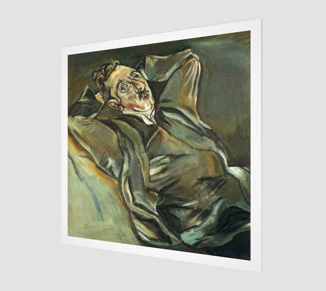 Albert Ehrenstein Painting by Oskar Kokoschka