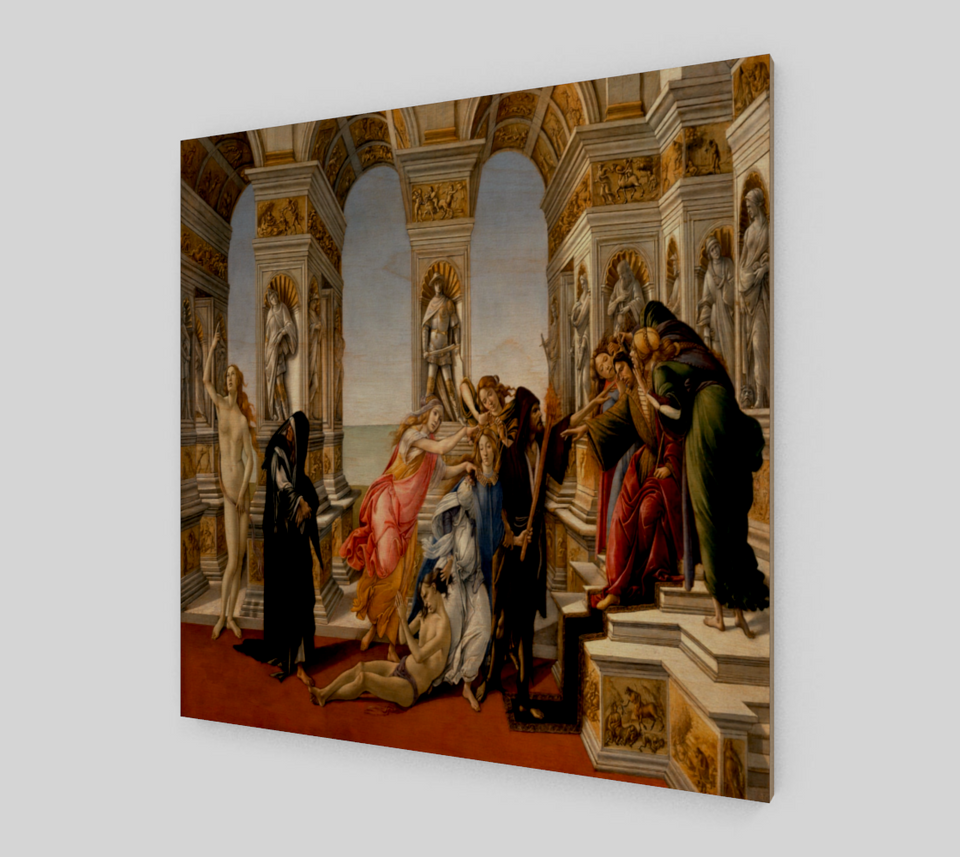 Calumny of Apelles by Sandro Botticelli | Canvas Fine Arts