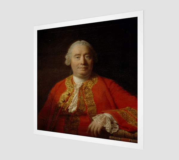 David Hume Portrait Painting by Allan Ramsay