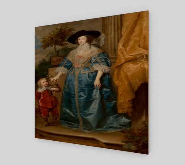Henrietta Maria and the dwarf by Anthony van Dyck