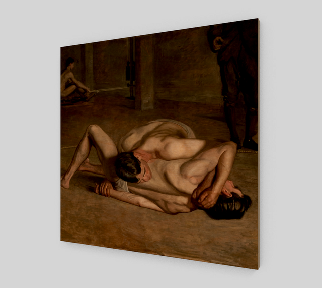 Wrestlers by Thomas Cowperthwait Eakins | Canvas Fine Arts