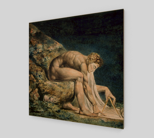 Newton by William Blake [Wooden Canvas Prints]